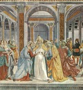 GHIRLANDAIO MARRIAGE OF THE VIRGIN, S MARIA NOVELLA, FLORENC