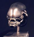 H R Giger ALIEN HEAD bronze front