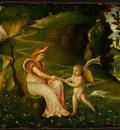 giorgione circle of, venus and cupid in a landscape, c