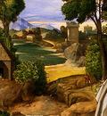 giorgione the adoration of the shepherds, detalj