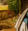 giorgione the adoration of the shepherds, detalj