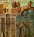 Giotto Legend of St Francis [08] Vision of the Flaming Chariot