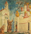 Giotto Legend of St Francis [10] Exorcism of the Demons at Arezzo