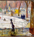 Glackens Winter WashingtonSquarePark sj
