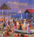 glackens beach scene, new london