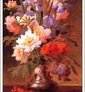 bs flo Alfred Godchauz A Still Life Of Iris And Roses