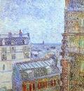 Paris vu de la chambre de Vincent rue Lepic
