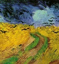 Van Gogh Gogh, Vincent van Wheat Field Under Threatening Skies [1890]