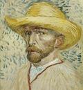 Van Gogh Self Portrait with Straw Hat