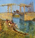 Van Gogh Vincent The Langlois Bridge at Arles with Women Washing