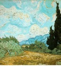 van Gogh Wheat field with cypresses, 1889, 51 5 x 65 cm, Pri