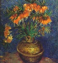 van gogh fritillarias in copper vase