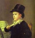 Francisco de Goya Portrait of Mariano Goya, the Artists Grandson