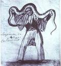 Francisco de Goya Serpiente de 4 bares en Bordeaux 4 Yard Long Snake in Bordeaux
