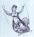 Francisco de Goya Young Witch Flying with a Rope