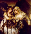 Goya Majas on a Balcony, ca 1808 12, 162x107 cm, Private col