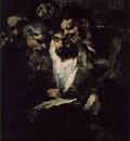 Goya Men reading, ca 1819 23, 126x66 cm, Oil on plaster remo