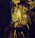 Goya Two old men, ca 1821 23, Detalj, Oil on plaster remount