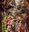 El Greco Baptism of Christ 1608 1614, 330x211 cm, Hospital d