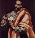 El Greco St Paul, 1608 1614, 97x77 cm, Museo del Greco, Tole