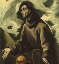 St Francis receiving the Stigmata