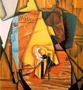 Gris A man in a cafe, 1914, 99x72 cm, Acquavella Galleries,