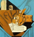 Gris Musicians table, 1914, Fusain, graphite, and colored p