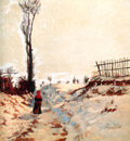 Guillaumin Armand Road through the snow Sun