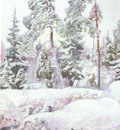 pekka halonen ravio lumessa a clearing in the snow
