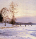 Hansen Sigvard Skaters On A Frozen Pond