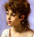 Harlamoff Alexei Alexeiewitsch Portrait Of A Peasant Girl