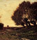 Harpignies Henri A Wooded Landscape With A Stream