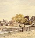 Harpignies Henri Joseph Pont Neuf Paris