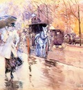 hassam rainy day on fifth avenue