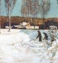 hassam shoveling snow new england c1905