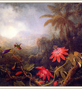 bs ahp Martin Johnson Heade Passion Flowers With Three Hummingbird