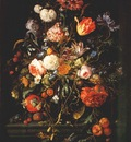 heem fruits beside a glass vase 17th c