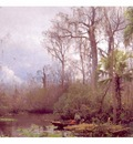 fl art004 figures in a river landscape herman herzog