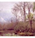 fl art004 figures in a river landscape herman herzog