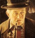 Heuster Carl Portrait Of An Elderly Swabian Man