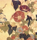 hokusai morning glories and tree frog