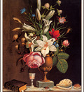 bs flo John E Hollen Bouquet In Vase