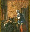 PO Vp S1 54 Pieter De Hooch La peseuse dor