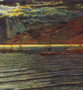 Hunt William Holman Fishingboats by Moonlight