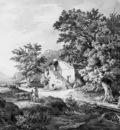 Huysmans Constantinus Southern landscape with farm Sun