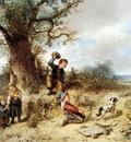 Kate ten Johan Mari Children in a landscape Sun