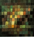 Klee Ancient sound, abstract on black, 1925, Kunstsammlung,