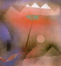 Klee Bird Wandering Off, 1926, gouache on canvas paper mount