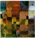 Klee Red and white domes, 1914, Watercolour, 14 6x13 7 cm, K