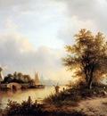 Kleijn Lodewijk Johannes River landscape Sun